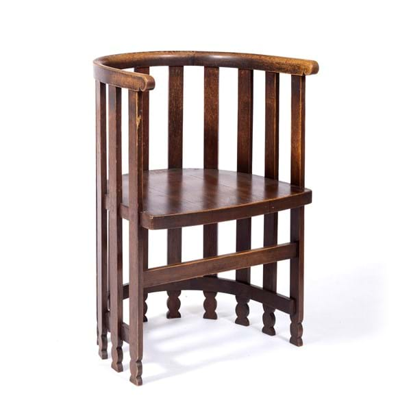 "Liberty & Co. Oak ""Stanmore"" chair Image"