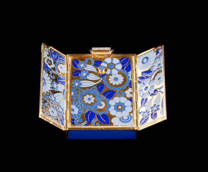 French enamel and diamond set compact.jpg Image