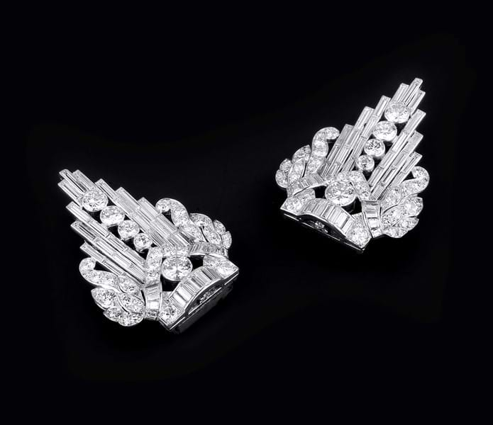 Art Deco diamond clip brooches.jpg Image