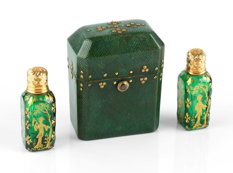 A pair of 19th century French scent flasks.jpg Image